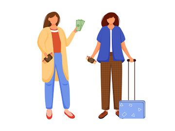 Preparation for vacation, holiday, trip flat contour vector illustration preview picture