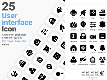 User Interface Icon Pack Vol.01 preview picture