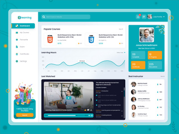 Online Course Dashboard Design preview picture