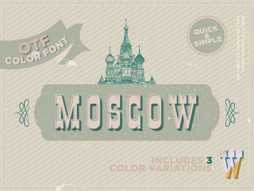 Moscow - OTF color font preview picture