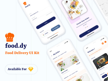 Food.dy Delivery App UI Kit preview picture