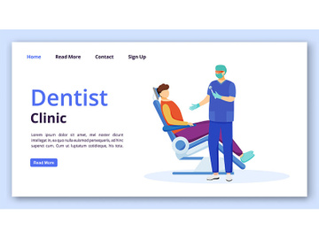 Dentist clinic landing page template preview picture