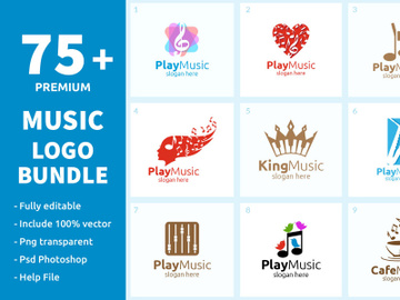 75+ Music Logo Bundle preview picture