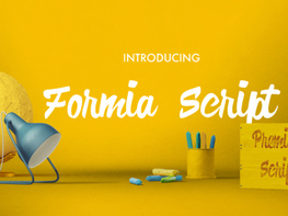 Formia Script Free Font preview picture
