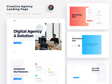Creative Agency Landing Page light version preview picture