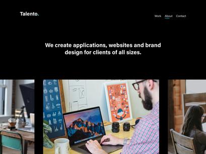 Talento 2 0 - Portfolio Template - Adobe XD by Diego ~ EpicPxls