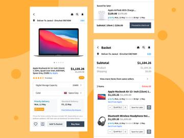 E-commerce mobile app screen UI Design preview picture