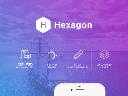 Hexagon Mobile UI Kit by Hoang Pts ~ EpicPxls