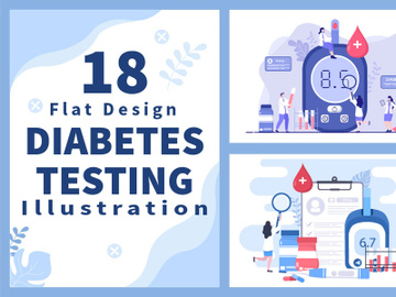18 Diabetes Testing Healthcare Illustration preview picture
