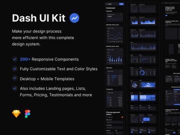 Dash UI Kit - Dark preview picture