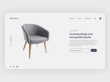 Furniture Web Landing Page preview picture