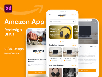 Amazon App UI Kit Redesign preview picture