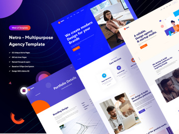 Netro - Multipurpose Agency  Web UI Template preview picture