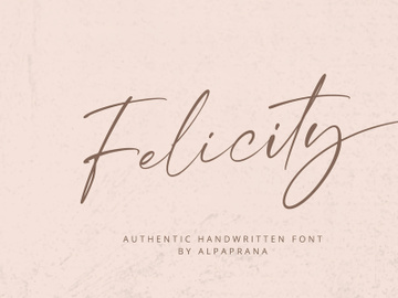 Felicity - Handwritten Font preview picture