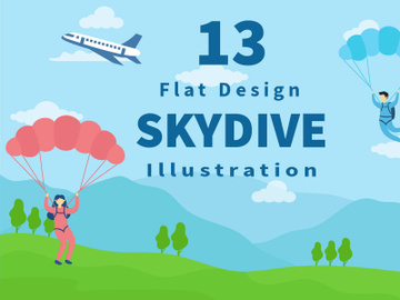 13 Skydive Outdoor Flat Design preview picture