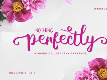 Free Perfectly Script Font preview picture