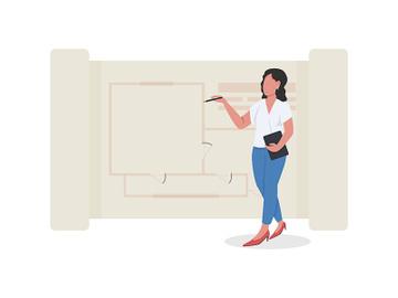 Architectural designer flat concept vector illustration preview picture
