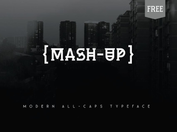 Mash-Up FREE FONT preview picture