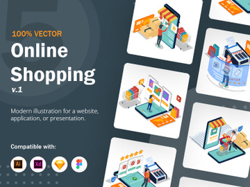 Online Shopping Illustration v1 preview picture