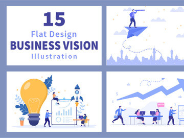 15 Business Vision And Target Illustration preview picture