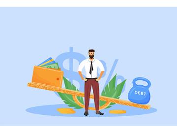 Debt repayment flat concept vector illustration preview picture