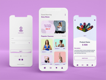 Meditation Mobile App UI preview picture