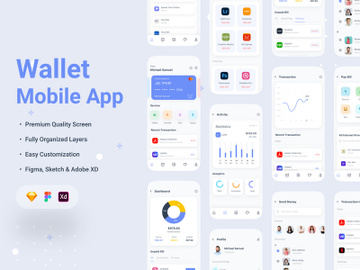 Wallet Mobile App UI Kit preview picture