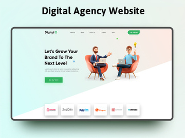 Digital Agency Website preview picture