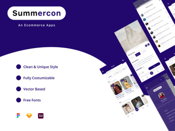 summercon - An ecommerce Apps UI Kit preview picture
