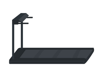 Gym treadmill semi flat color vector object preview picture
