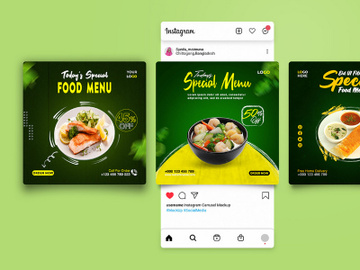 Food Social Media Post Template [PSD] preview picture
