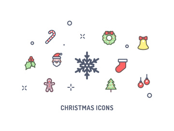 Christmas Holiday Icons preview picture