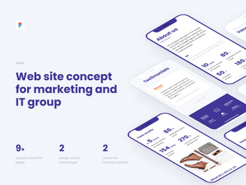 Web UI kit for Marketing or IT agency preview picture