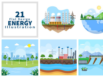 21 Ecological Sustainable Energy Supply Illustration preview picture