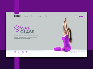 Yoga Landing Page Design preview picture