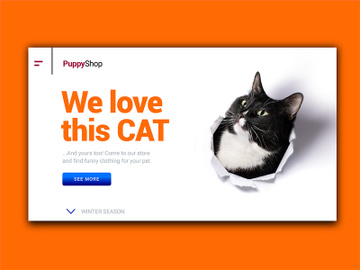 Cat Landing Page preview picture
