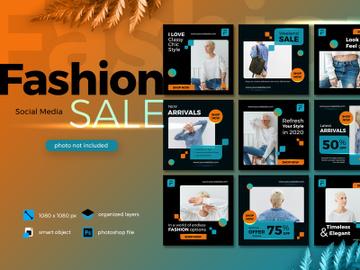 Fashion Sale Social Media template Lush Lava theme preview picture