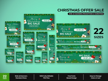 Christmas Sale Web Ad Banners preview picture
