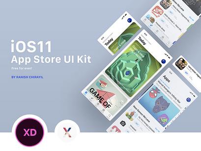 iOS 11 App Store UI Kit - 3 Free Screens by Ranish Chirayil