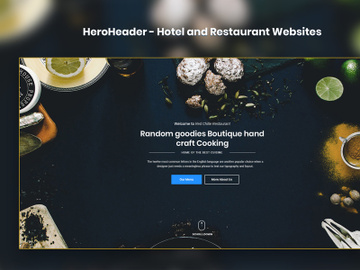 HeroHeader for Hotel and Restaurant Websites preview picture