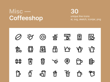 Coffee Shop Icons preview picture