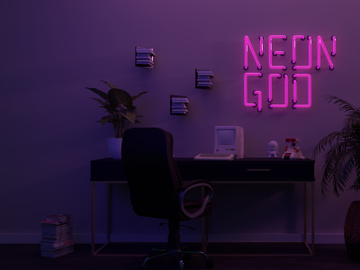 Neon God Font [Free] preview picture