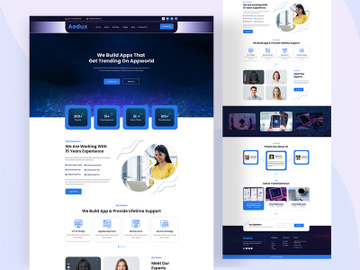 Modern Digital Agency Landing Page preview picture