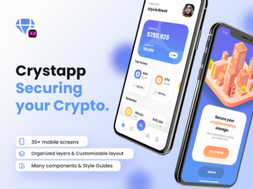 Cryptocurrency Wallet UI Kit - Crystapp preview picture