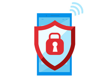 Mobile security flat vector illustration preview picture