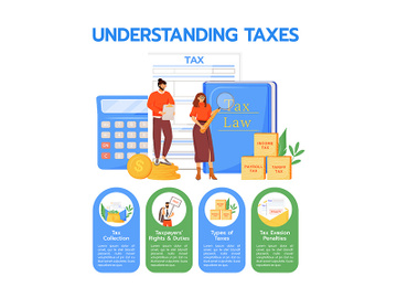Understanding taxes flat color vector informational infographic template preview picture