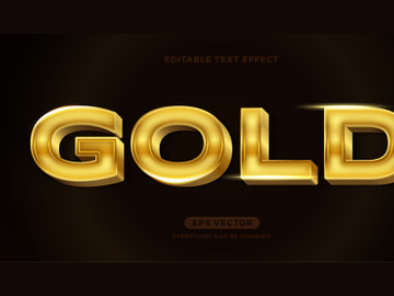 Gold editable text effect style vector preview picture