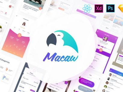 Macaw UI + React-Native Theme