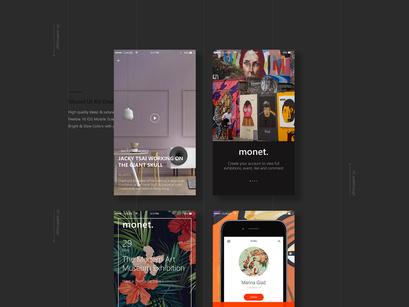 Monet: Free PSD Mobile UI kit by Kina Bayra ~ EpicPxls