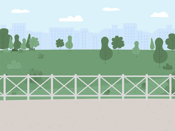 Park and recreation area flat color vector illustration preview picture
